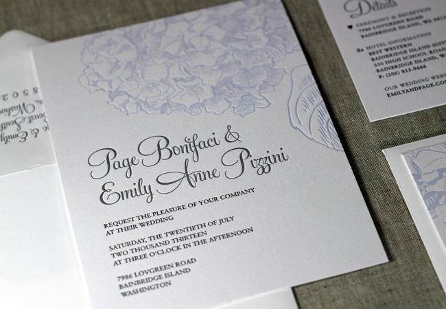 Wedding Invitation Outer Envelope: Press Engaged Letterpress & Design